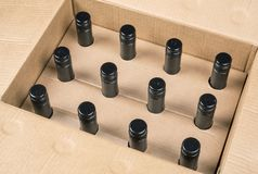 12个瓶盒酒3 图库摄影