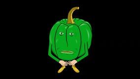 1个甜椒动画片透明沈默介绍 股票视频