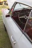 1966个白色雪佛兰Chevelle SS司机边 库存图片