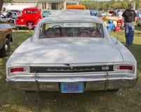 1966个白色雪佛兰Chevelle SS背面图 免版税库存图片