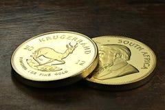 1个盎司金锭硬币 免版税库存图片