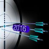 2016个目标显示成功的未来增长 免版税图库摄影