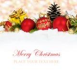 4个看板卡圣诞节 免版税库存照片