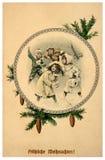 8个看板卡圣诞节eps文件包括了快活的向量葡萄酒 免版税库存照片