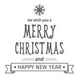 2007个看板卡招呼的新年好 圣诞快乐字法 也corel凹道例证向量 查出的对象 库存例证