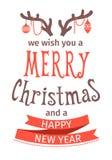 2007个看板卡招呼的新年好 圣诞快乐字法 也corel凹道例证向量 查出的对象 皇族释放例证