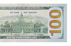 100个票据美元 库存图片