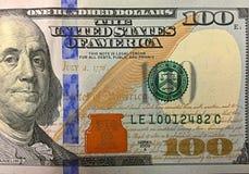 100个票据美元 免版税库存照片