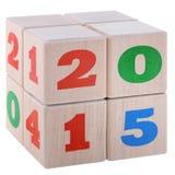 2015个立方体 免版税库存图片