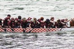 2010个第7条小船冠军瓷俱乐部乘员组龙澳门赛跑赢利地区世界 免版税库存图片