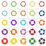 25个箭头图表刷新再装自转圈标志集合 向量例证