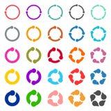 25个箭头图表刷新再装自转圈标志集合 免版税库存照片