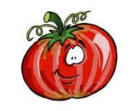 0087个素食者朋友蕃茄 向量例证