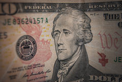 10个美国人美元 免版税库存照片