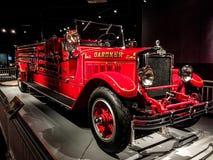 1929个美国人LaFrance消防部门卡车 免版税库存图片