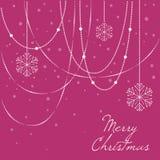 8个背景圣诞节典雅的eps文件包括了雪花向量 免版税库存图片