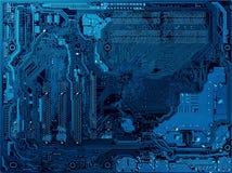 10个背景蓝色董事会电路eps模式 免版税库存照片