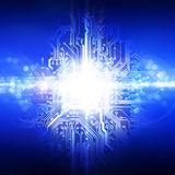 10个背景蓝色董事会电路eps模式 免版税图库摄影