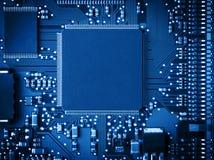 10个背景蓝色董事会电路eps模式 库存图片