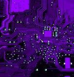 10个背景蓝色董事会电路eps模式 图库摄影