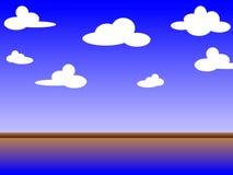 1个背景覆盖多云天空 图库摄影