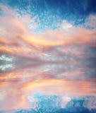 1个背景覆盖多云天空 免版税库存图片