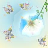 10个背景蝴蝶eps向量 图库摄影