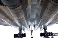 144个航空器超音速tu图波列夫 库存照片