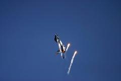 16个航空航空器原来地开发了动力f猎鹰战斗机战斗强制通用喷气机多角色状态团结的美国空军 免版税库存照片