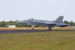 18个航空f强制大黄蜂瑞士 免版税库存照片
