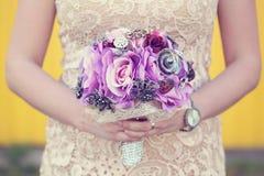 1个花束新娘婚礼 免版税库存图片
