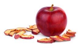 整个苹果和干苹果 免版税库存图片