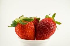 3个草莓 免版税库存图片