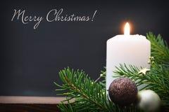 10个蜡烛看板卡圣诞节eps例证向量 免版税库存照片