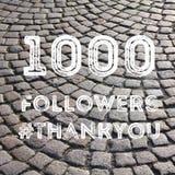 1000个追随者 免版税图库摄影