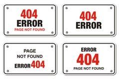 404个错误长方形标志 免版税库存照片