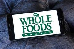 整个食物市场商标 免版税库存图片