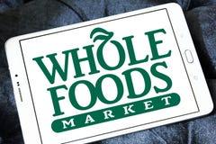 整个食物市场商标 免版税库存照片