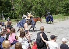 2个骑士比赛 免版税库存照片