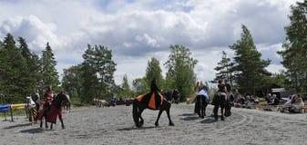 2个骑士比赛 免版税库存图片