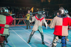 2个骑士比赛 库存图片