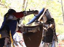 2个骑士比赛 免版税图库摄影