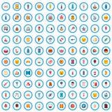 100个鲜美食物象集合,动画片样式 库存例证