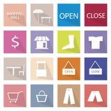 16个购物的项目象横幅的汇集 库存照片