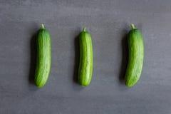 3个黄瓜 库存图片