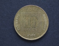 10个以色列人Agorot硬币 免版税图库摄影