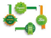 4个Biofood标签标志 免版税库存照片