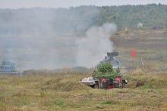2个bmp战斗步兵通信工具 库存图片