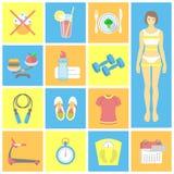 10个eps文件健身图标透明度 免版税库存图片