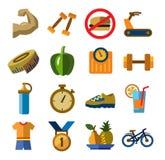 10个eps文件健身图标透明度 库存图片